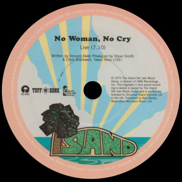 Artist : Bob Marley And The Wailers A Side : No Woman No Cry (Live!) B Side : The Heathen (Live Rainbow Theater 1977) Label : Island Records - Tuff Gong ...